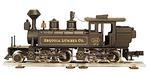 2-4-4-0 Mallet Type Steam Locomotive, Sequoia Lumber Co.""