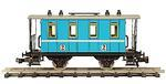 Passenger Car Bright Blue