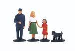 Set of 4 Figures - family of Engine Driver Joseph