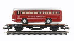 Flat Car DR with Bus - 1