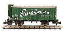 "Beer Car ČSD Series Lp ""Budvar"" with Brakeman's Cabin"