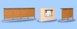 Set of Wooden Billboards,  - light brown - 2